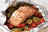 Steamed Salmon and Vegetable Packets