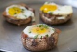 Baked Eggs in a Portobello Cap