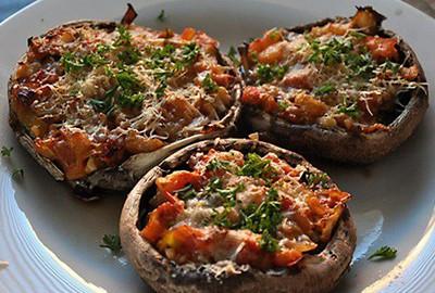 Mushroom Pizza | Vegetarian Ideal Protein Recipes Naperville