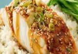 Sea Bass With Asian Soy Ginger Dressing
